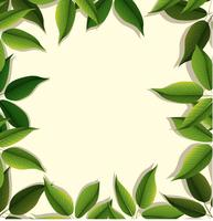Ramdesign med gröna blad vektor