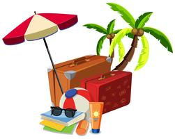 Strand Sommer Reiseobjekt vektor