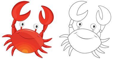 Animal skiss för krabba vektor