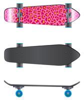 En rosa färgad skateboard vektor