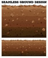Sömlös underjordisk med olika lager