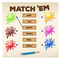 Zusammenpassendes Spiel mit Farben vektor