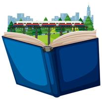 Transport von offenen Büchern vektor