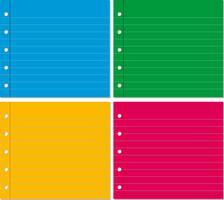 Hintergrund vier mit Linie Papier in vier Farben vektor