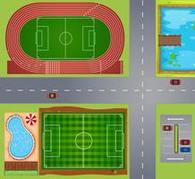 Sportfält och domstolar vektor