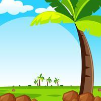 Hintergrundszene mit grünem Rasen vektor