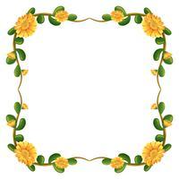 En blommig gräns med gula blommor