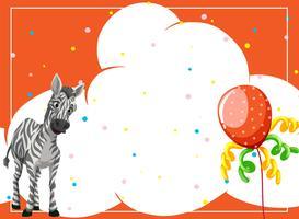 En zebra på festbakgrund