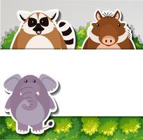 Banner-Vorlage mit niedlichen Tieren