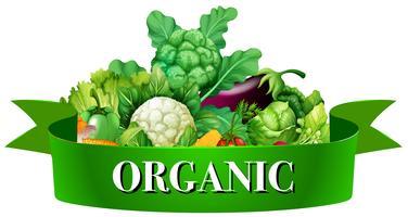Färska grönsaker med banner
