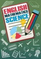 Schulfächer mit vielen Symbolen vektor