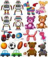 Set verschiedene Spielzeuge