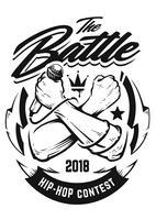 Hip-Hop-Vektor-Emblem