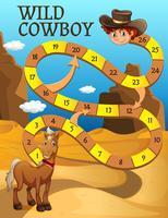 Boardgame-Vorlage mit Pferd in der Wüste