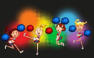 Cheerleader springen auf und ab vektor