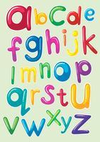 Teckensnittsdesign med engelska alfabet