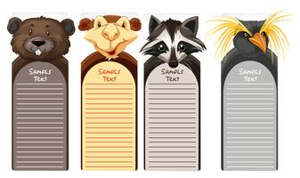 Papper mall med olika djur ansikten vektor
