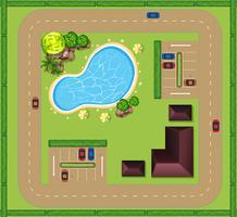 Luftbild des luxuriösen Hauses vektor