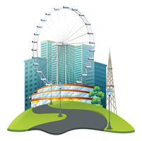 Großes Riesenrad im großen Park vektor