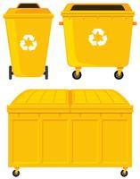 Mülleimer in drei verschiedenen Ausführungen vektor