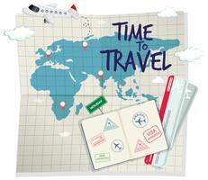 Eine Zeit zum Reisen Vorlage vektor