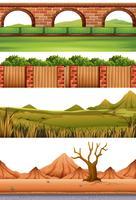 Set verschiedene Szenen vektor