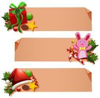 Banner Vorlage mit Weihnachtselementen vektor