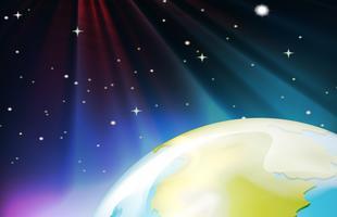 Hintergrundszene aus dem Weltraum vektor