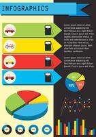 Eine Infografik mit den Fahrzeugen vektor