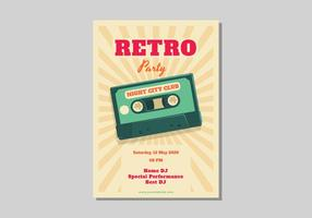 Retro Poster-Vektor-Illustration vektor