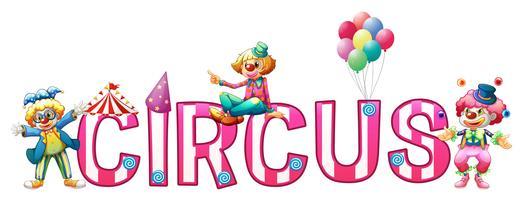 Font design för ord cirkus