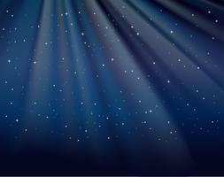 Bakgrundsmall med stjärnor i himmel vektor