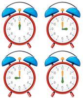 Unterschiedliche Zeit für Wecker vektor