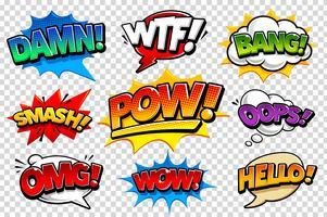 Comic Talbubblor vektor