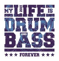 Trommel- und Bass-Typografie