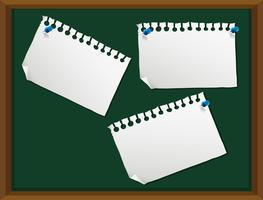 Leere Notiz auf Tafel vektor