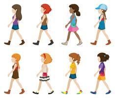 Jugendliche ohne zu Fuß gehen vektor