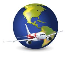 Jordklot och flygplan