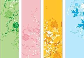 Vier Floral Banner Vector Pack
