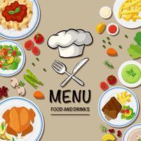 Meny för italiensk mat vektor