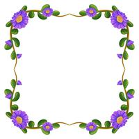 En blommarmarginal med violetta blommor