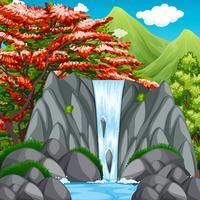 Wasserfall in der Wildnis vektor
