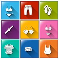 Kleidung-Icons vektor
