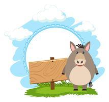 Zeichenvorlage mit niedlichen Esel