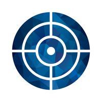Vektor-Ziel-Symbol vektor
