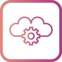 Vektor Cloud Settings Icon