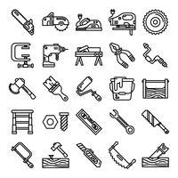 Tischler Icons Pack vektor