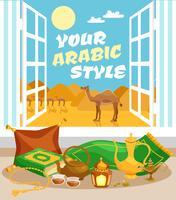 Arabisk kulturaffisch vektor