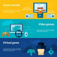 Videospiel-Banner-Set vektor