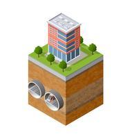 Städtischer unterirdischer Stadtverkehr vektor
